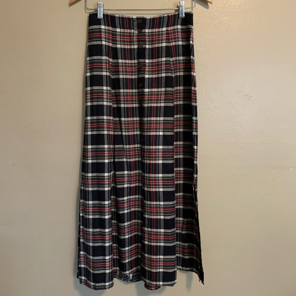 Vintage Dresses & Skirts - Vintage Plaid Button-Front Skirt | 0